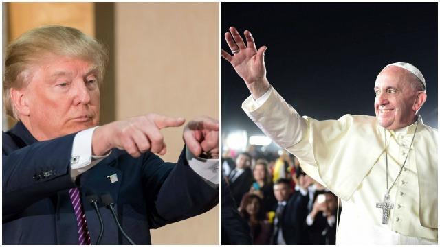 Donald Trump déplore les propos honteux du pape à son encontre