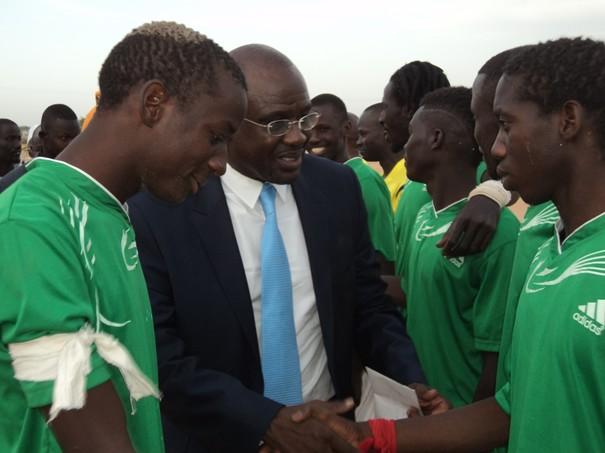 Amadou Mberry Sylla, Parrain de la Finale départementale de l'Odcav, invite la jeunesse lougatoise à l'Unité