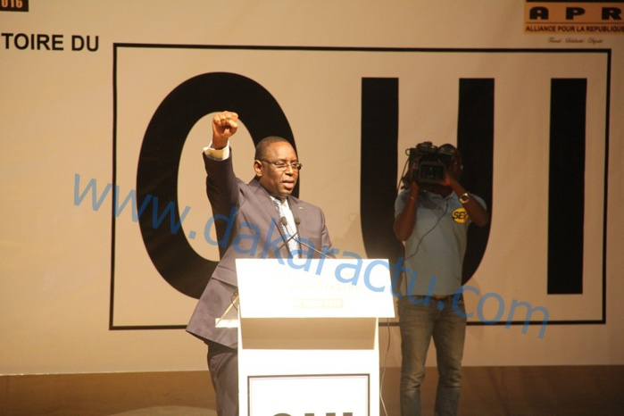 Pour gagner le référendum du 20 mars, Macky Sall appelle ses camarades à plus de solidarité