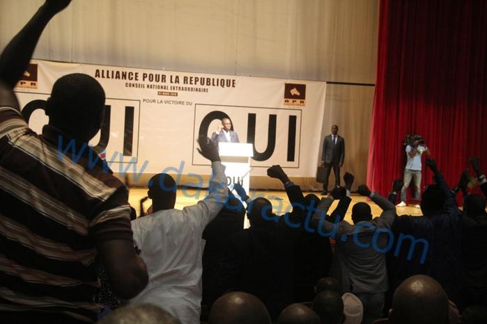 Les images du Conseil National de l'Alliance pour la république tenu ce jour