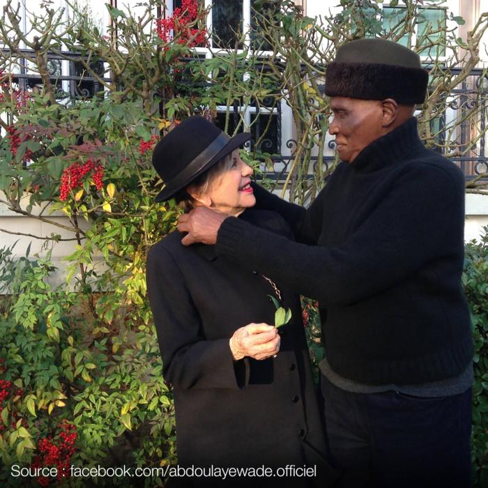 L'ancien Président de la République Me Abdoulaye Wade en toute complicité avec son épouse Viviane