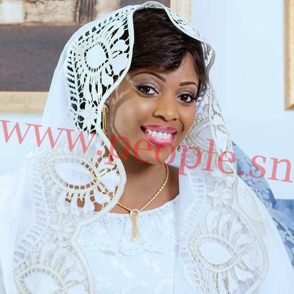 Amina Guèye, la nouvelle femme de Birane N'dour, toute radieuse le jour de son mariage