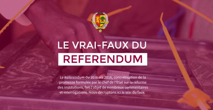 Mise à disposition d'un dossier spécial et d'un site de Fact-checking « Le Vrai-Faux du Référendum »