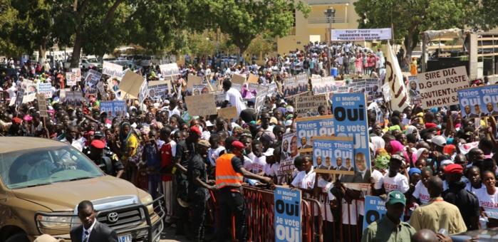 L'accueil triomphal de Macky Sall à Thiès (Images)