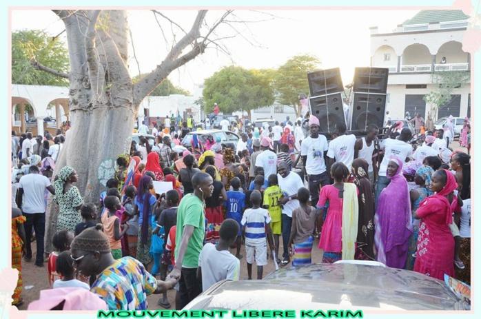 Images de la caravane du MLK dans la commune de Louga