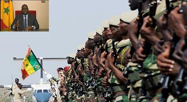 """Macky Sall : """"Le gouvernement va continuer à renforcer les moyens de l'armée"""""""