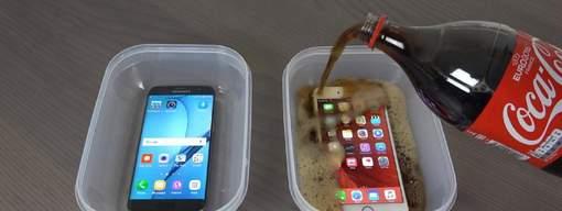 Vidéo: Un iPhone 6S et un Samsung Galaxy S7 congelés dans du Coca: que se passe-t-il?