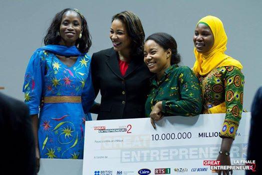 Great Entrepreneur : Les lauréates remportent la cagnotte de 10 millions de FCFA