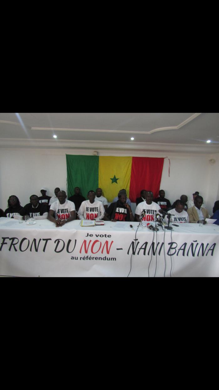 BILAN FINANCIER DE LA CAMPAGNE RÉFÉRENDAIRE : Le Front du NON Ñaani Bañna a dépensé… 11,6 millions F Cfa