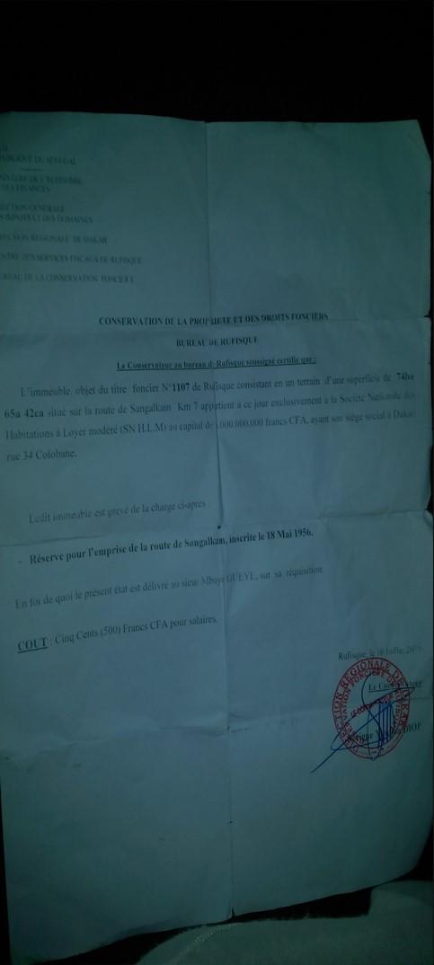 Nébuleuse sur le titre 1107 à Ndiakhirate : Quel est ce ministre qui essaie de protéger les services techniques incriminés de l'Etat?