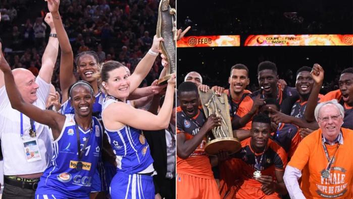 Basket : Une Coupe de France pour les Sénégalais Sy Diop et Fall