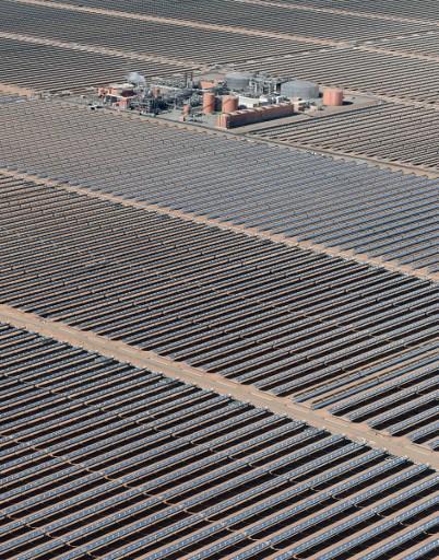 La centrale de Ouarzazate inaugurée en février 2016 au Maroc est actuellement la plus grande d'Afrique de par sa puissance. Photo AFP