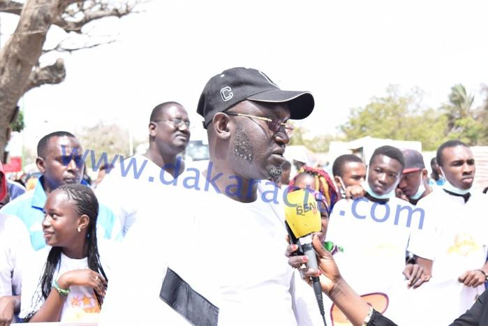 Les images de la randonnée pédestre de ANTAR (Association Nationale pour le Travail et l'Action Républicaine)  présidée par Baba Diallo