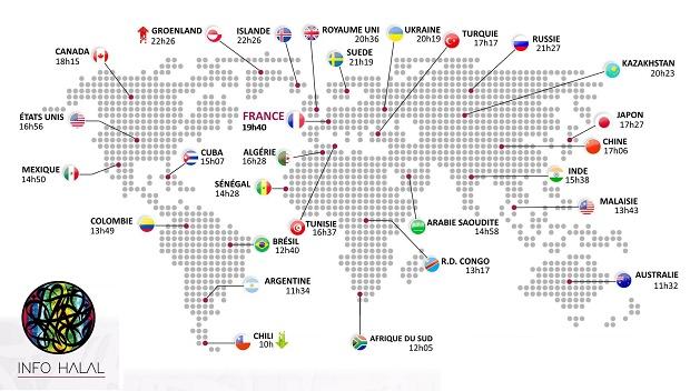 Ramadan 2016 : combien d'heures jeûnent les musulmans à travers le monde