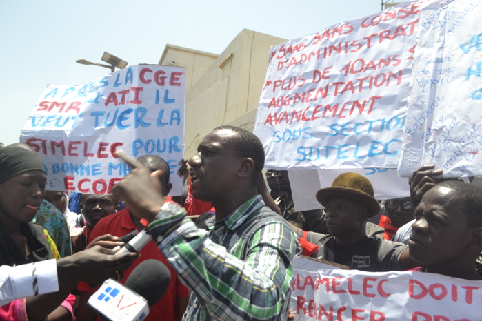 Après 7 mois sans salaire : Les agents de la sous-section SUTELEC de la SIMELEC réclament le départ de Babacar Sarr, leur directeur