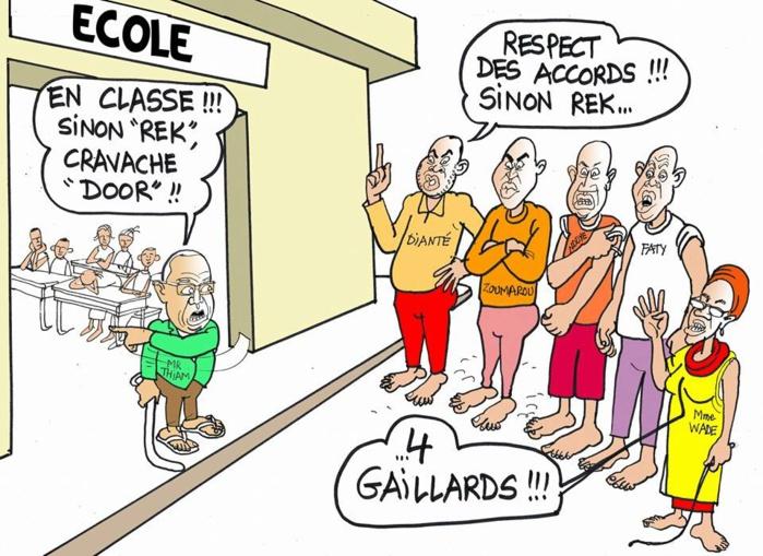 """"""" En classe!!! Sinon cravache..."""" Macky et les enseignants (Odia-Tribune)"""