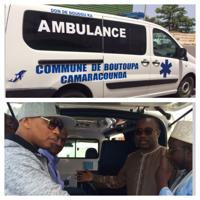 Boutoupa Camaracounda accueille son ambulance au port de Ziguinchor