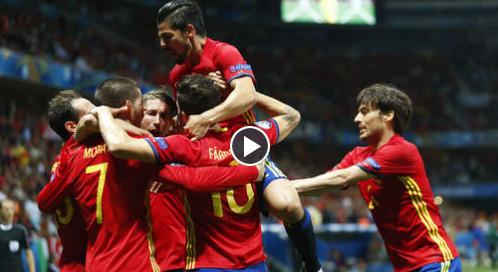 L'Espagne en démonstration contre la Turquie