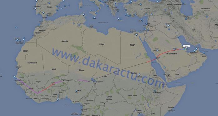 Exclusivité Dakaractu : Karim vient d'arriver au Qatar à 12h58mn GMT, voici les détails de son vol Dakar-Doha