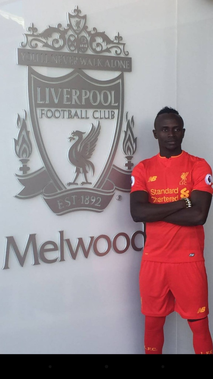 La première photo de Sadio Mané sous le maillot de Liverpool