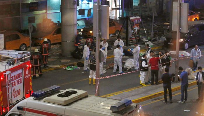 Attentat à l'aéroport d'Istanbul: le bilan grimpe à 41 morts et 239 blessés