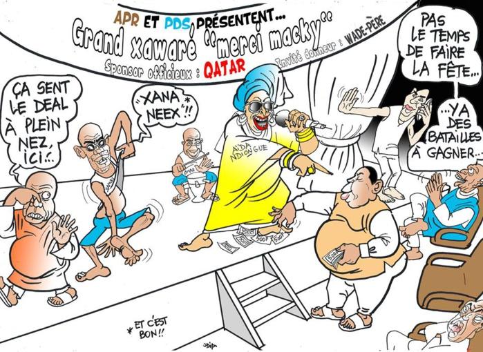 "Grand ""Xawaré"" merci Macky, sponsor le Qatar....(par Odia)"