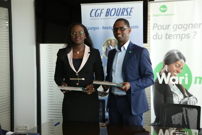 CGF Bourse vient  d'intégrer la plateforme Wari !