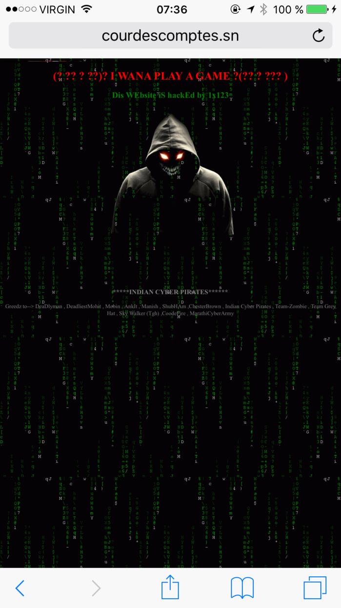 Le siteweb de la Cour des comptes piraté juste après la sortie du rapport de 2014