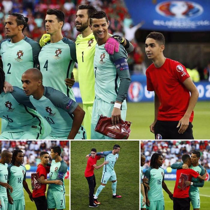Sur le plan humain Ronaldo est vraiment un exemple.