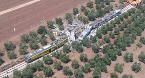 Terrible collision entre deux trains en Italie : Au moins dix morts