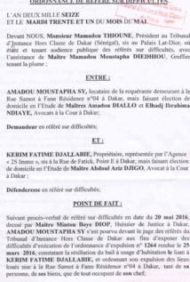 Expulsé de la maison des Habré : Le couple Niasse/Sy traîne une dette de 17 millions (documents)