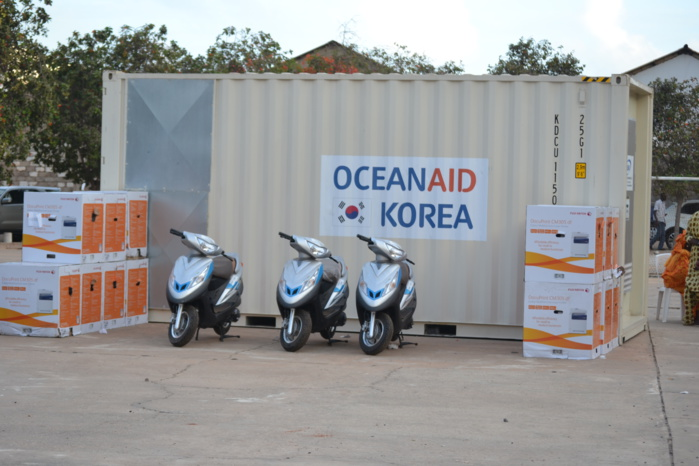 CONTENEUR FRIGORIFIQUE – 03 MOTOS – 13 IMPRIMANTES : La Corée du Sud apporte son soutien à la pêche