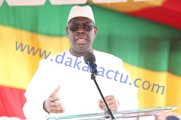 Cérémonie officielle de lancement des travaux de construction d'infrastructures du Projet d'Appui à l'Enseignement moyen dans la région de Dakar (ADEM/Dakar) : Allocution du président Macky Sall