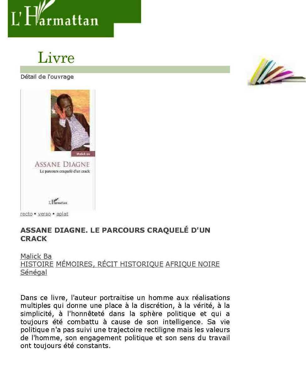Bonnes feuilles du livre  sur Assane Diagne : Sa rencontre avec Wade et sa tentative de liquidation par les faucons du palais