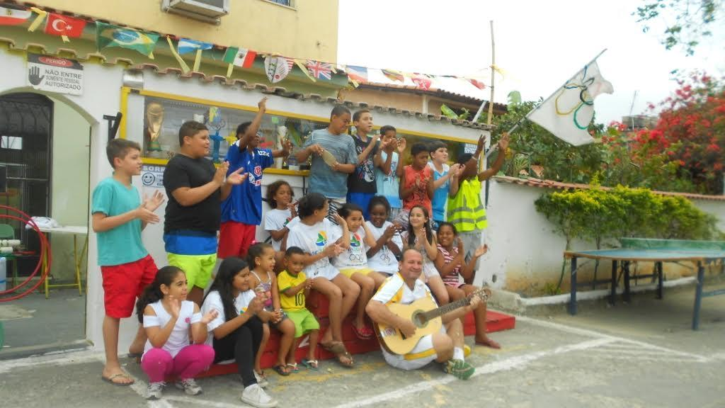 À Rio, les enfants d'un quartier populaire ont aussi leurs JO