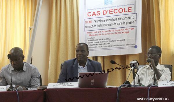 Le CORED appelle à nouveau les journalistes à refuser de prendre les per diem