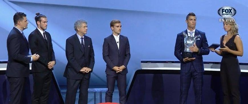 Cristiano Ronaldo meilleur joueur UEFA de la saison 2015-2016