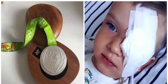 Il vend sa médaille olympique pour l'opération d'un enfant