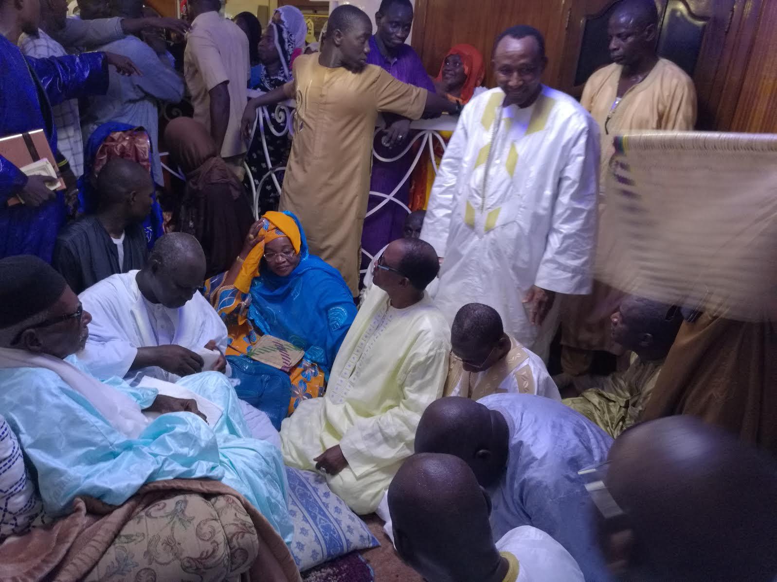 Les images de la délégation du Parti Démocratique Sénégalais chez le Khalif général des Mourides