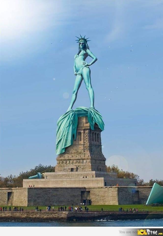 La photo de la statue de la Liberté dénudée pour narguer la France du burkini. Le buzz du jour!