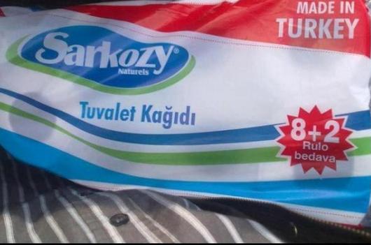 Le comble : En Turquie, Sarkozy est le nom d'un papier toilette!!!