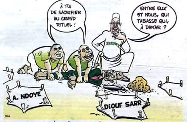 """Patron de Dakar : Khalifa """"tabasse"""" Diouf Sarr et Alioune Ndoye...(Odia)"""