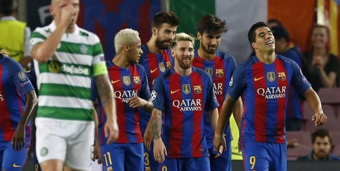Triplé de Messi, le Barça écrase le Celtic (7-0) lors de la première journée de Ligue des champions