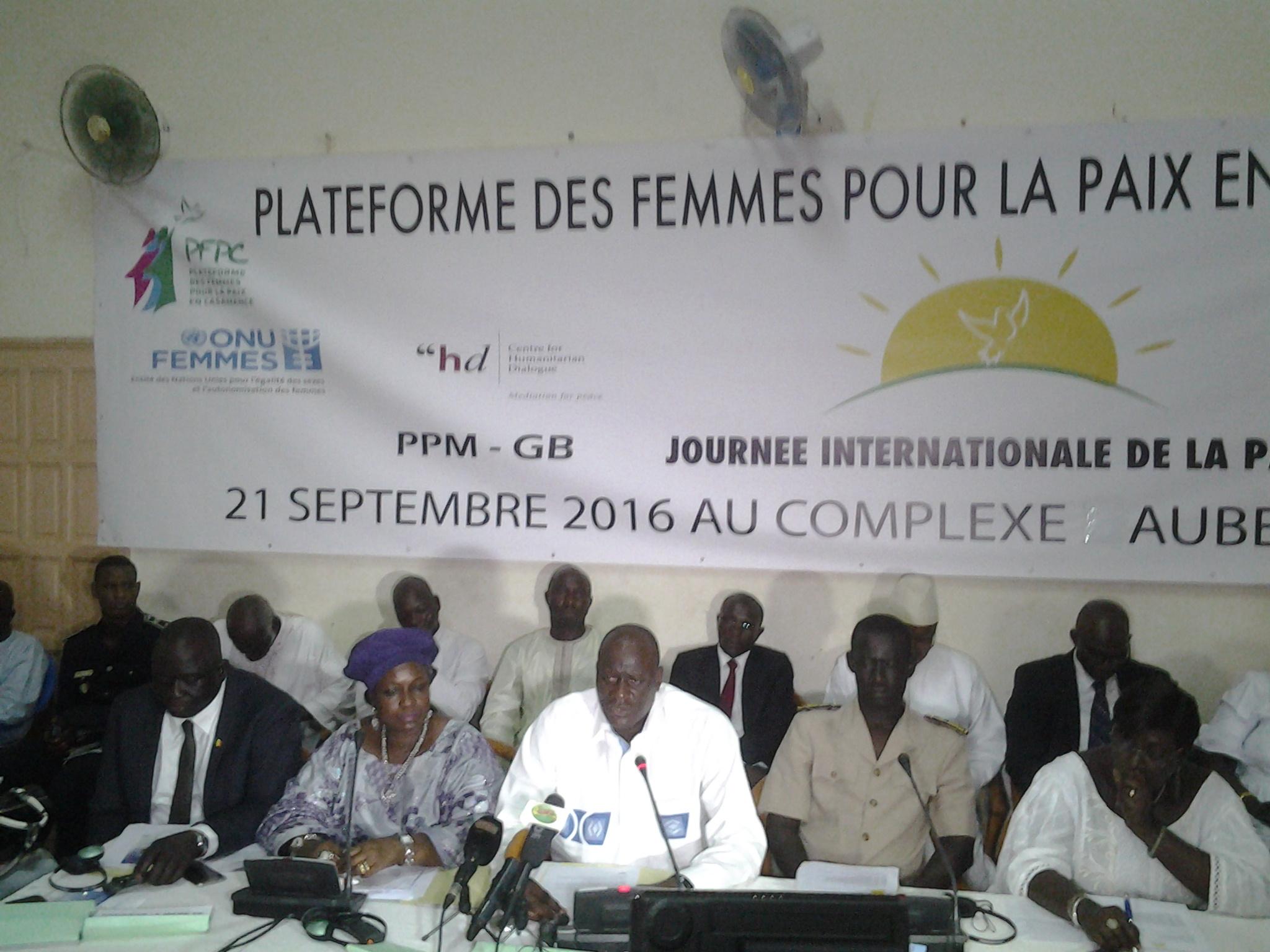 Journée de la paix : Les femmes de la plateforme pour la paix en Casamance encouragées à continuer de planter dans les cœurs les graines de l'espoir
