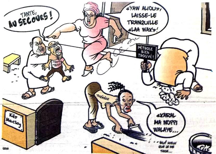 Chez Macky : Aliou Sall empoigne Mame Mbaye Niang devant Marème......(par Odia)