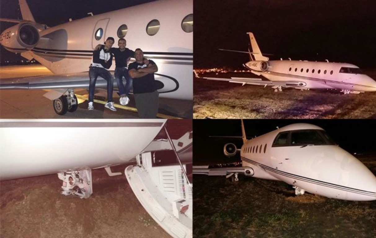 Le jet de Ronaldo se crashe... à Barcelone