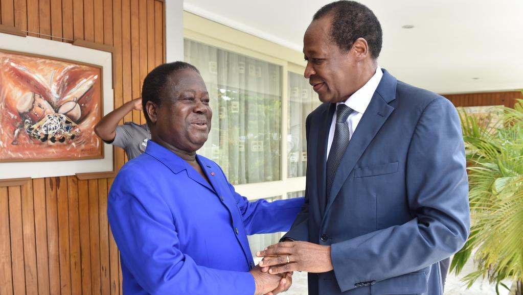En Côte d'Ivoire, Blaise Compaoré rencontre officiellement Henri Konan Bédié