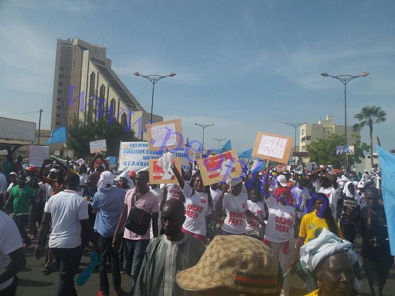 Les images de la forte mobilisation du Front Wattu Senegaal
