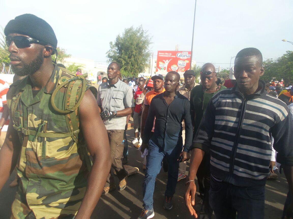 MARCHE DU 14 OCTOBRE :  Les leaders en tenue de combat