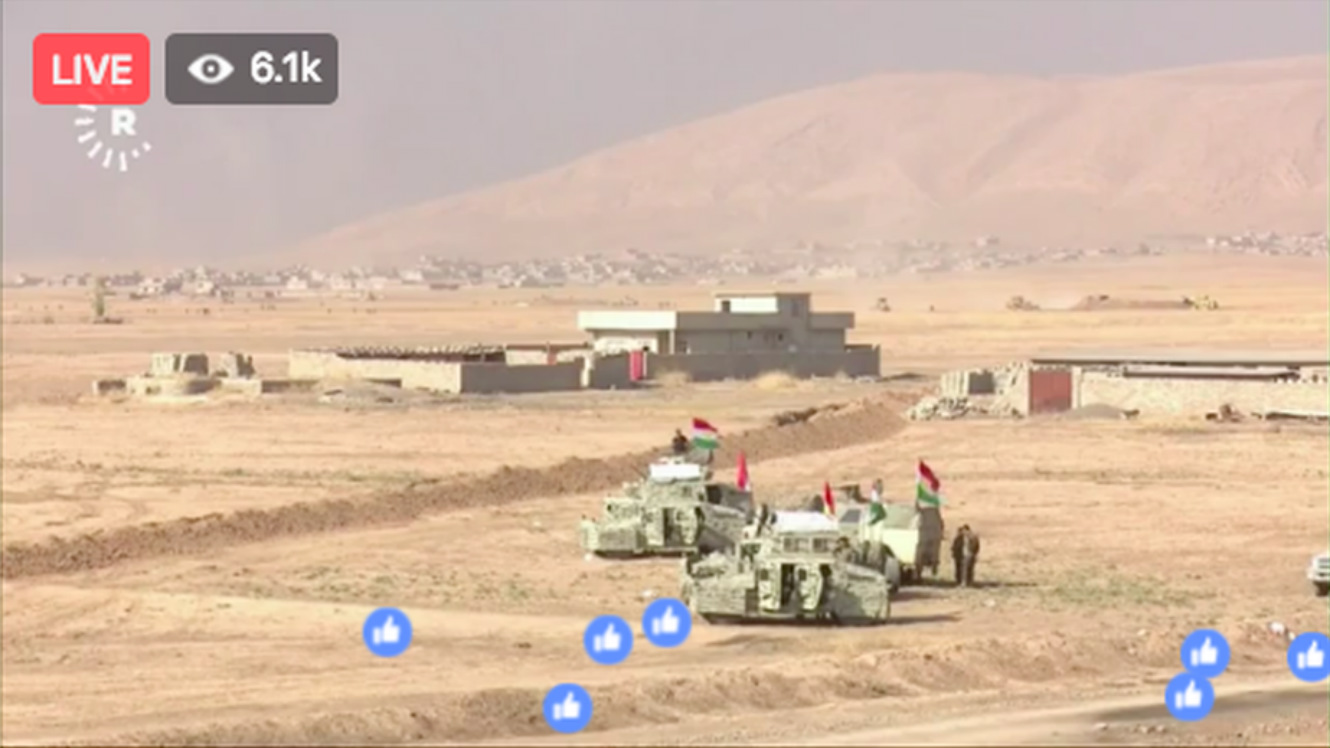 La bataille de Mossoul est retransmise en direct via Facebook Live